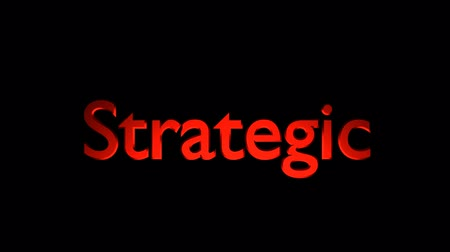 Strategic Management animation with streaking text and motion blur