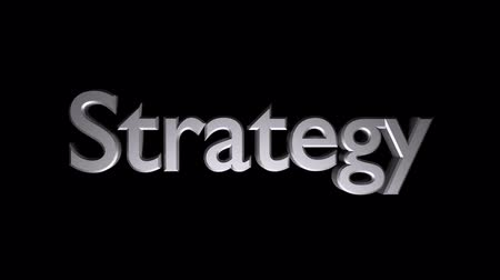 Strategy Coaching animation with streaking text and motion blur