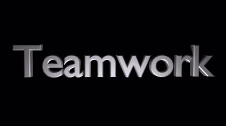 Teamwork coaching animation with streaking text and motion blur