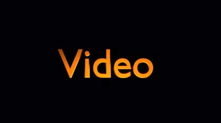 Video Marketing animation with streaking text and motion blur