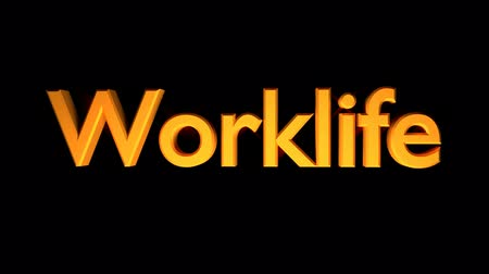 Worklife Coaching animation with streaking text and motion blur