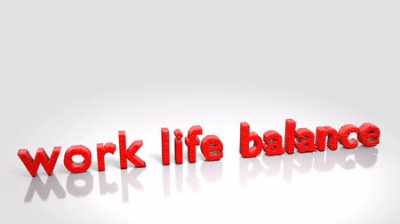transformation animation from word stress out to work life balance Stock mozgókép