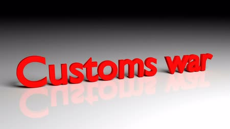 Customs was text in red letters dissolves into particles and disappears