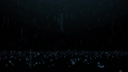bounced : Rain and bouncing water-drops on dark background with beautiful depth of field Stock Footage