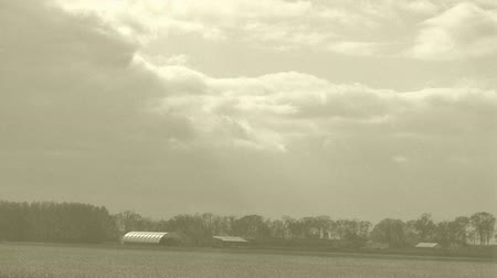 навес : Rural Time Lapse of Past to Present  with Clouds