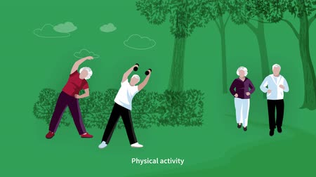 Elderly People activities video animation footage