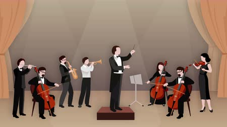 Music concert scenes animation footage Стоковые видеозаписи