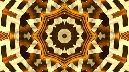 gerçeküstü : 4K Colorful looping kaleidoscope sequence of golden patterns. 4K UHD 4096 x 2304 ultra high definition abstract motion graphics background