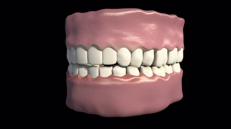 deterioration : This video shows the bruxism Stock Footage