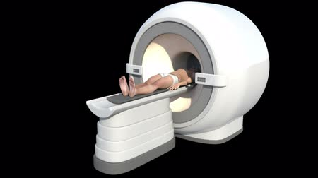 imaging : This video shows a man undergoing MRI examination Stock Footage