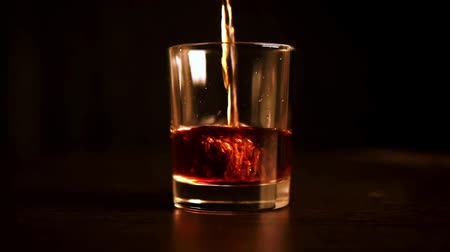 viski : shot of whiskey on the wooden table