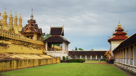 vientiane : Vientiane, Laos. Pha That Luang temple in Vientiane, Laos. Famous golden symbol of the country.