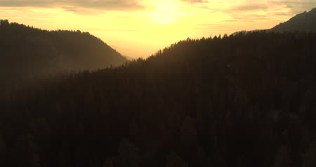 aventura : Flight over the Sequoia National Park. Sunrise. Sunset. The first video of the two.  4K. Nov 2017 Vídeos