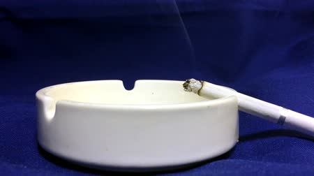 cigarettes : The cigarette is a white porcelain ashtray. The dangers of nicotine and tobacco.