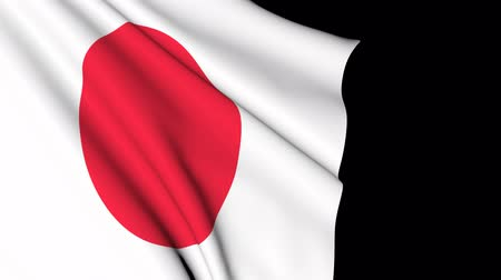 フォーマット : The flag of Japan in motion.