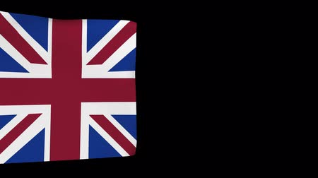 oficial : Background of the isolated flag UK. Movement of Great Britain.