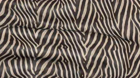 кошачий : Waves of Zebra-colored fabric. Abstract 3D texture of the movement.
