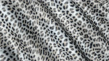 panther : Skin of a leopard in motion. Background of the canvas ripples.