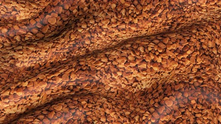 çuval bezi : Abstract fabric with coffee granules print. Background of fabric movement with ornament.