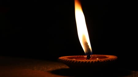peng : slow motion fire flame, candle light pray faith peace of religion spirituality Stock Footage
