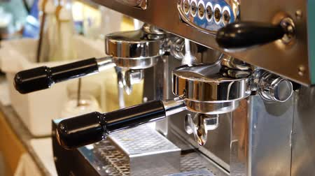 bung : automatic coffee machine dispenser in cafe