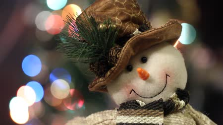 ziyafet : Christmas decoration with Christmas toys Stok Video
