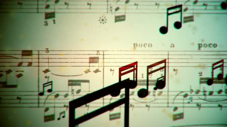 briefpapier : Music notes fließen Schleife Videos