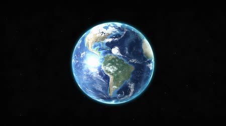 dönen : Realistic Earth rotating over space background