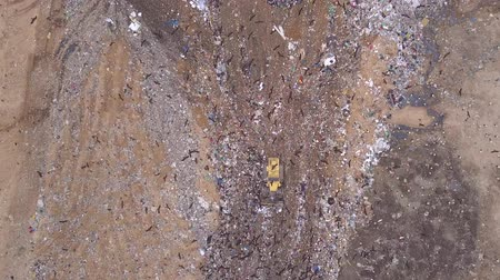 Aerial view of Garbage dump landfill.