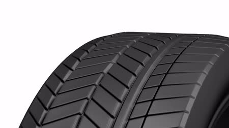 pneus : Close-up of rotating car tire