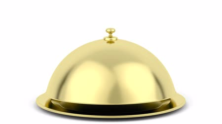 lids : Animation of opening gold cloche