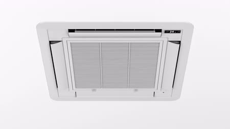 airconditioning : Type Cassette airco blaast koude lucht