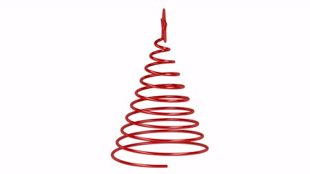 рождественская елка : Stylized Christmas tree spin on white background