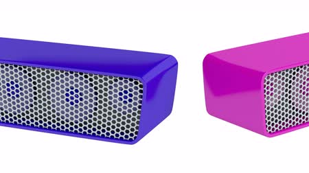 vezeték nélküli : Colorful wireless speakers on white background
