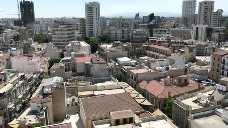 ayrılmış : NICOSIA, CYPRUS - SEPTEMBER 24, 2018: The city center of the southern side of Nicosia, Cyprus