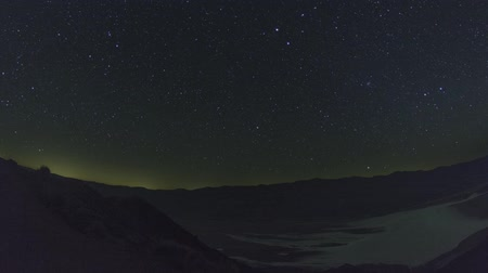 Death Valley Badwater Basin Night Sky Timelapse shot at Dantes View