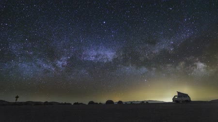 Epic Milky Way With A Camper Van In California Night Astronomy Timelapse