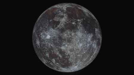 Simulation Of Orbiting Flying Around The Moon created from a high resolution fullmoon photo.
