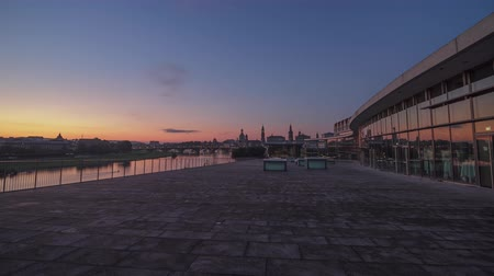Sunrise timelapse Dresden Germany Night To Day