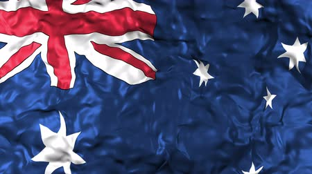 árbocszalag : Australian flag background with fabric texture Stock mozgókép