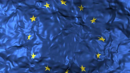 legislação : Closeup of European Union flag waving in the wind