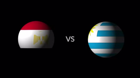 qualification round : Soccer competition, national teams Egypt vs Uruguay Stock Footage