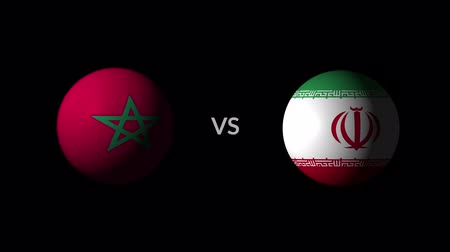 qualification round : Soccer competition, national teams Morocco vs Iran Stock Footage