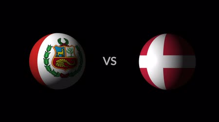 qualification round : Soccer competition, national teams Peru vs Denmark Stock Footage