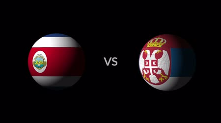 qualification round : Soccer competition, national teams Costa Rica vs Serbia