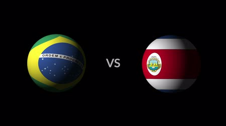 qualification round : Soccer competition, national teams Brazil vs Costa Rica