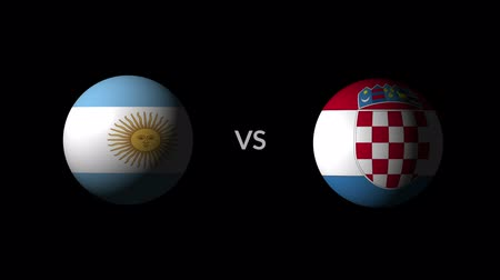 qualification round : Soccer competition, national teams Argentina vs Croatia