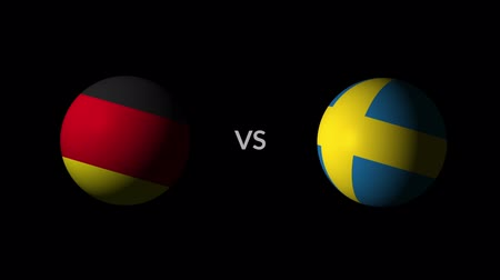 qualification round : Soccer competition, national teams Germany vs Sweden Stock Footage