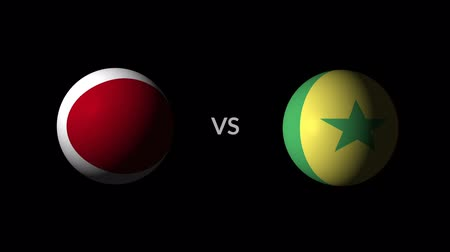 qualification round : Soccer competition, national teams Japan vs Senegal