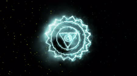 chakra : The Throat Vishuddha Mandala Chakra Symbol Forming of Fire, one of the seven chakras, great for design